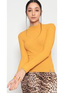Blusa Canelada- Amarelo Escuro- Miss E Missesmiss & Misses