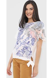 Camiseta Desigual Bruselas Off-White
