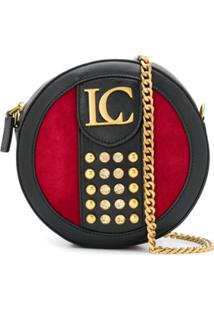 La Carrie Kate Stud-Embellished Crossbody Bag - Vermelho
