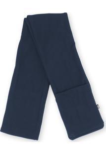Cachecol Térmico Fiero Com Bolsos Thermo Fleece Azul
