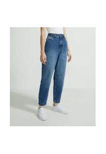 Calça Baggy Jeans Com Martingale No Cós