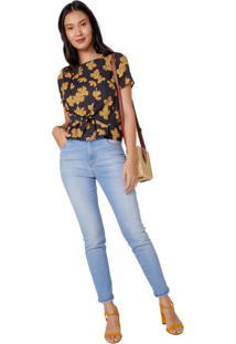 Calça Jeans Skinny Puídos