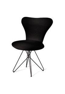 Cadeira Jacobsen Series 7 Preta Com Base Estrela Preta - 55921 Preto