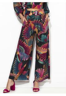 Calça Pantalona Frescor De Tucano Roxa