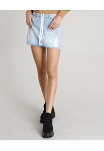 ed63892bf Saia E Mini Saia Jeans Tom Claro feminina