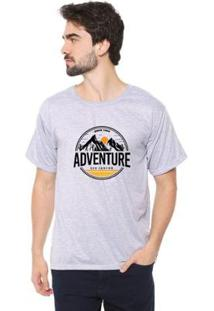 Camiseta Eco Canyon Hiking Masculina - Masculino-Cinza
