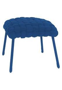 Banqueta De Corda Soft Quadrado Azul