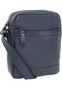 Bolsa Bennemann Schoulder Bag Em Couro Azul