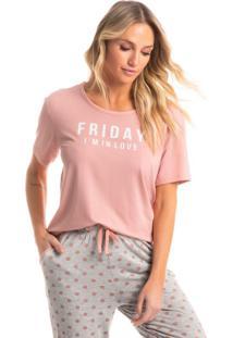Pijama Longo Manga Curta Poá Júlia