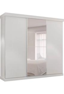 Guarda-Roupa Casal Com Espelho Alasca 3 Pt 6 Gv Branco
