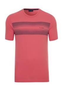 Camiseta Pierre Cardin Silk Masculina - Masculino-Rosa