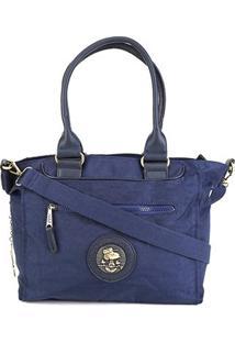 Bolsa Snoopy Tote Bag Grande Feminina - Feminino-Azul
