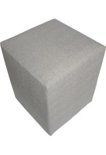 Puff Quadrado Tissue Cinza
