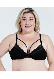 Sutiã Feminino Plus Size Tiras Renda Marisa