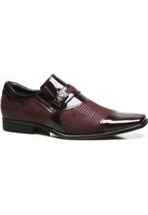 Sapato Social Couro Calvest Com Textura Em Verniz Masculino - Masculino