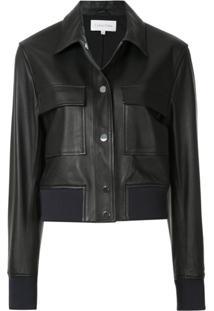 Ck Calvin Klein Cropped Shirt Jacket - Preto