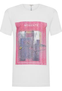Camiseta Masculina Estampa Moments - Branco