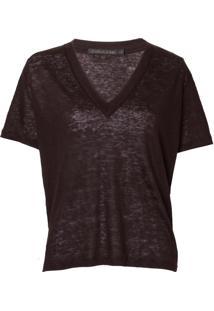 Camiseta John John Linen Black Feminina (Preto, M)
