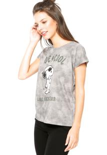 Blusa Fiveblu Snoopy Cinza