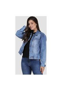 Jaqueta Jeans Zayon Azul Claro