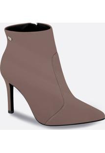Bota Feminina Ankle Boot Salto Alto Fino Vizzano