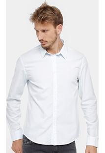 Camisa Social Ellus Slim Fit Lisa Masculina - Masculino