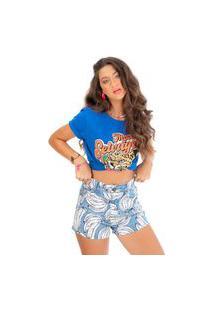 T-Shirt Mood Selvagem Fille Azul