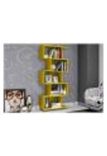 Estante Livreiro Multiuso Decorativa 05 Nichos Esm 209 Amarelo - Móveis Mb