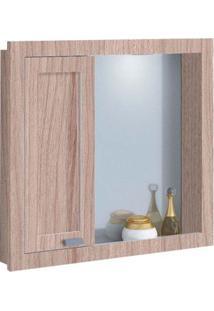 Espelheira De Mdf Argos 64X12,5X59,5Cm Griggio E Branco Gaam