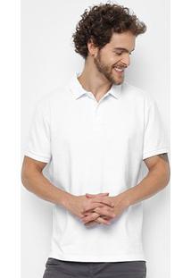 Camisa Polo Ellus 2Nd Floor Piquet Básica Masculina - Masculino-Branco