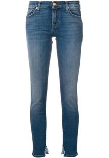 7 For All Mankind Calça Jeans Slim Com Detalhe Desfiado - Azul