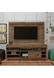 Rack Com Painel Para Tv 42 Polegadas Roma Rústico 140 Cm