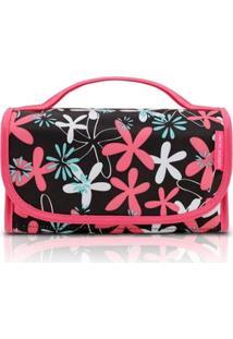 Necessaire Rocambole Jacki Design Nylon - Feminino-Pink+Preto