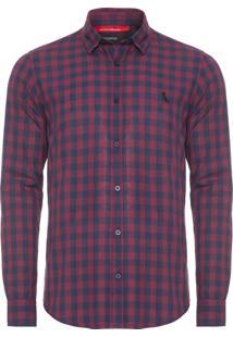 Camisa Masculina Barcelona - Bordô