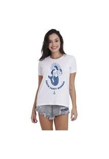 Camiseta Jay Jay Basica South Coast Mermaid Branca Dtg