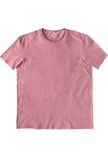 Camiseta Básica Masculina Slim Com Decote Redondo