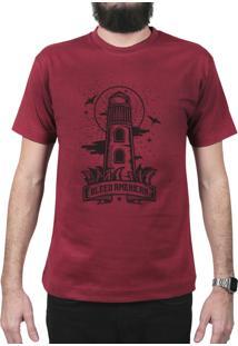 Camiseta Bleed American Lighthouse Vinho