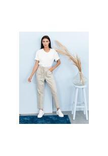Calça Jogger Sisal Jeans Areia