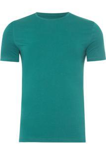 Camiseta Masculina Swim Etiqueta Manga - Verde