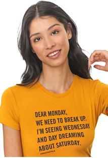 Camiseta Aeropostale Lettering Amarela