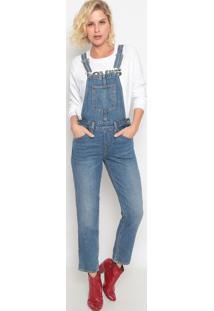 Macacão Jeans Estonado- Azullevis