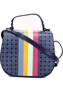 Bolsa Petite Jolie J-Lastic/Transfer Color Feminina - Feminino-Azul Escuro