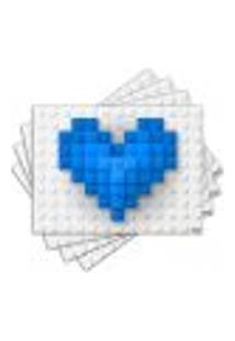 Jogo Americano - Coração Com 4 Peças - 1102Jo