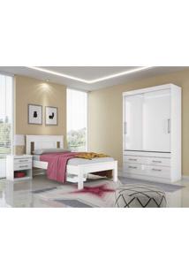 Dormitório Solteiro Click Branco/Fúcsia Santos Andirá - Tricae