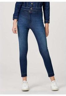 Calça Jeans Feminina Modelagem Jegging Sem Costura