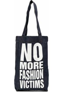 Katharine Hamnett London No More Fashion Victims Tote Bag - Azul