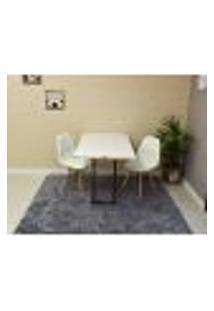 Conjunto De Mesa 120 X 75 Branca + 2 Cadeiras Botonê - Branca