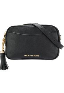 Michael Michael Kors Bolsa Tiracolo Com Placa De Logo - Preto