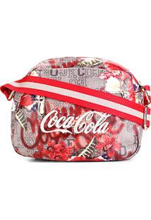 c73ddf211 Bolsa Coca-Cola Mini Bag Alça Transversal Estampa Floral Feminina - Feminino