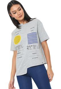 Camiseta Lez A Lez Provence Assimétrica Cinza